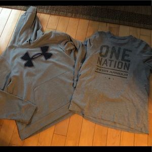 Under Armour hoodie and T Shitt sz LG